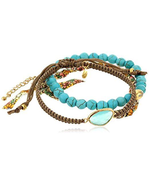 Tai - Blue Colored Three-piece Bracelet Set - Lyst