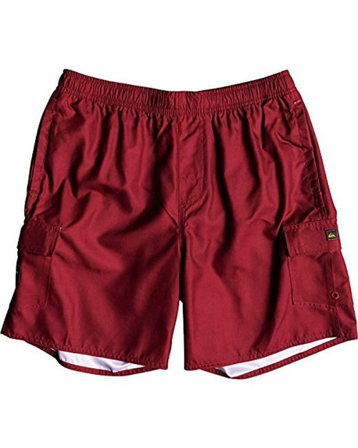 Quiksilver - Red Balance Volley 18 Swim Trunk Boardshorts for Men - Lyst