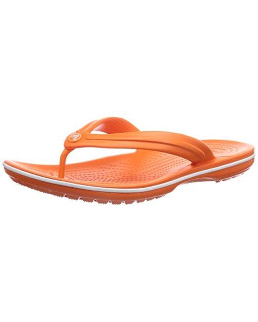 d11f096b9569f3 Lyst - Crocs™ Unisex Adults  Crocband Flip Flop in Orange