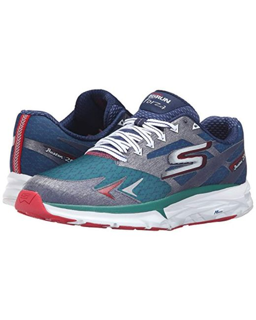 45ba5e6a9ce7 ... Skechers - Blue Performance Go Run Forza Boston 2016 Running Shoe for  Men - Lyst ...