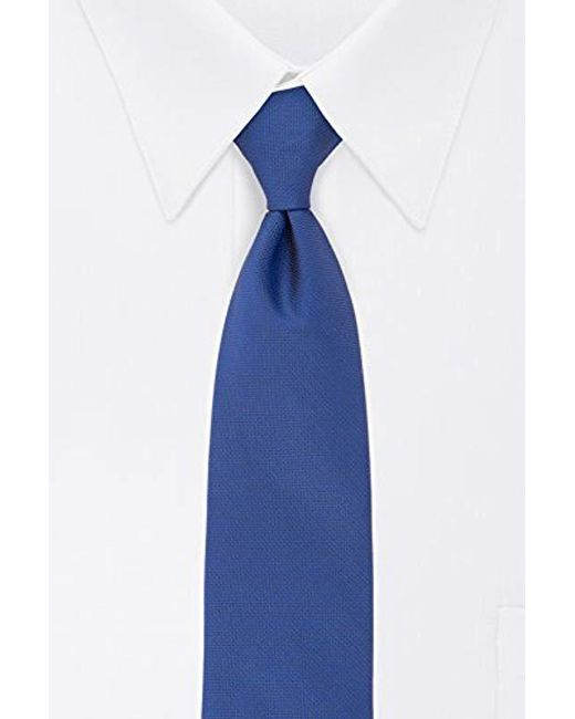 Calvin Klein - Blue Silver Spun Solid Tie for Men - Lyst