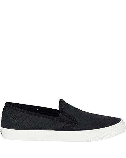 82b6159b25 ... Sperry Top-Sider - Black Seaside Emboss Weave Sneaker - Lyst ...