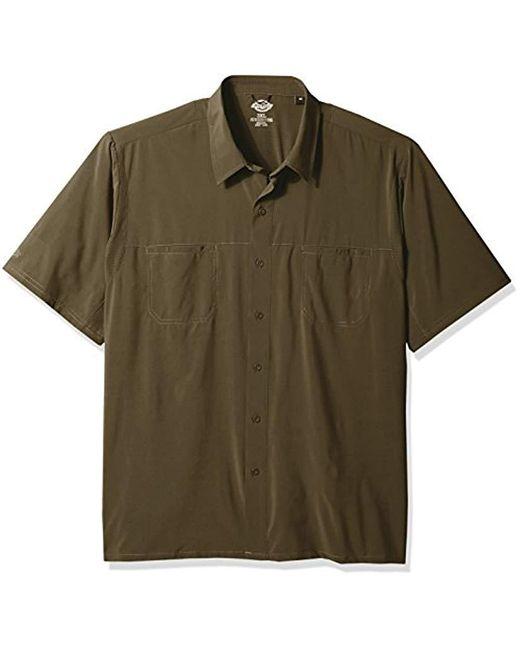Dickies - Green Cooling Woven Shirt 4-way Flex Big for Men - Lyst