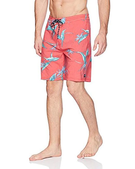 Rip Curl Red Jungle Lay Day for men