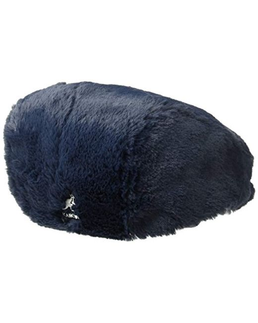 187f65ca ... Kangol - Blue Faux Fur Cap for Men - Lyst ...