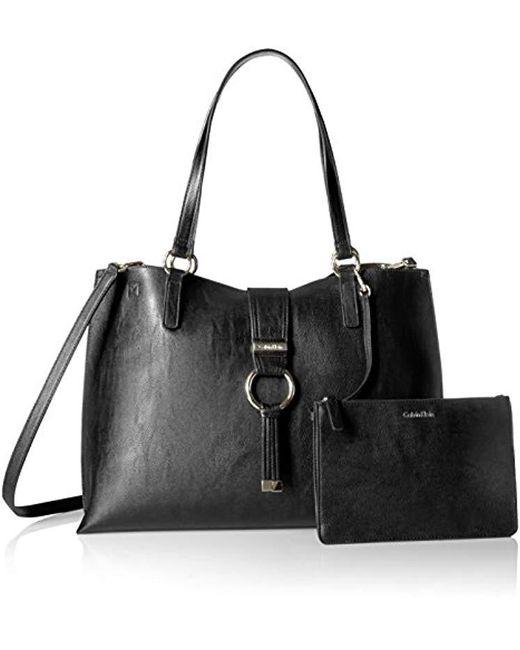 d1d8447f7610 ... Calvin Klein - Black E/w Novelty Tote - Lyst ...