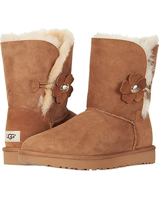 lyst ugg bailey button poppy fashion boot in brown save rh lyst com