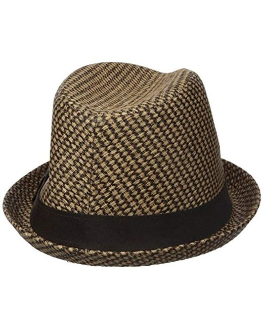 6ce107a9f93 ... Dockers - Brown Straw Fedora Hat for Men - Lyst