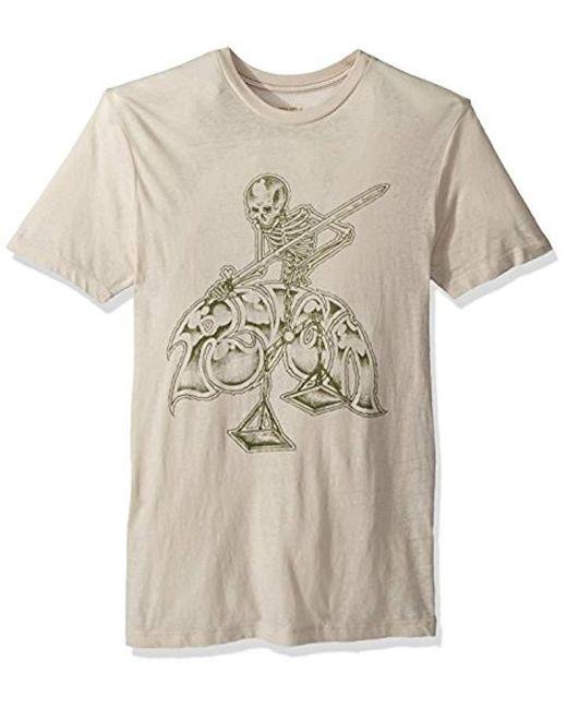 4f408da5b3ef Lyst - RVCA Mortal Justice Short Sleeve T-shirt in Natural for Men ...
