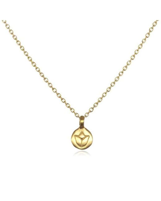 Satya Jewelry - Metallic Classics Gold Lotus Necklace (18-inch) - Lyst