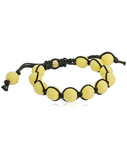 Tai - Yellow Agate Bead Bracelet - Lyst