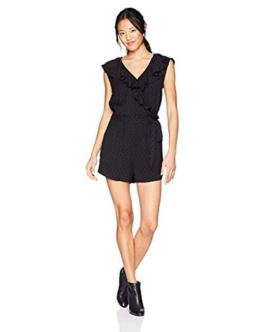 07c84fa3c37 Lyst - Roxy Cool Your Heart Romper in Black - Save 18%