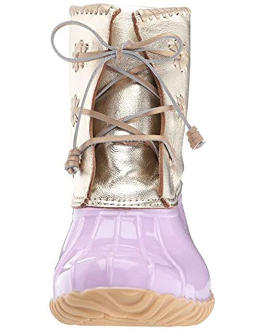 948b6e58a9f Lyst - Jack Rogers Chloe Metallic Rain Boot in Purple - Save 2%