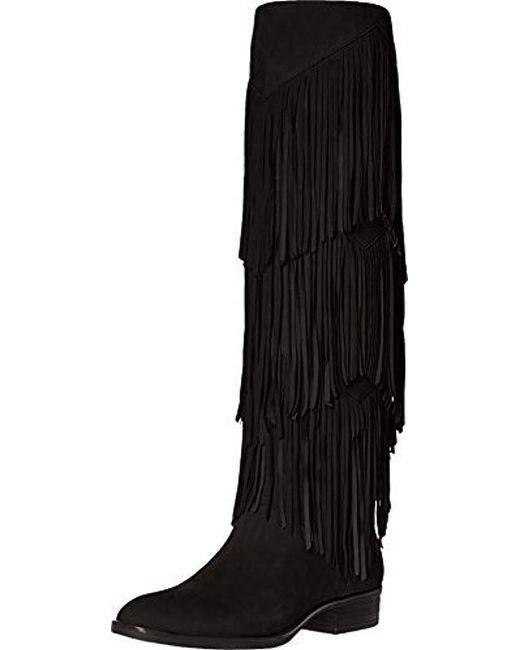 cdb3582eb Lyst - Sam Edelman  pendra  Fringe Western Boot in Black - Save 77%