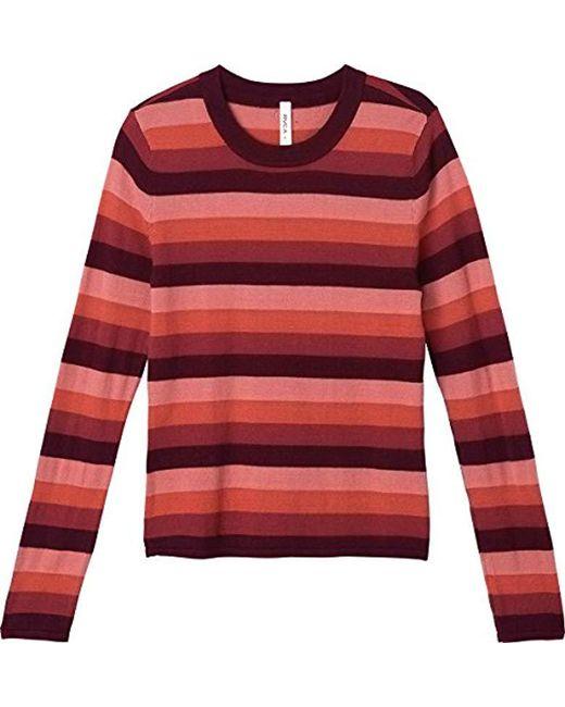 RVCA - Red Metric Sweater - Lyst