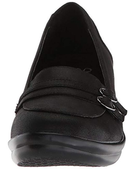 b28ea0023cbe ... Skechers - Black Rumblers-frilly-wedge Heeled Dressy Casual Double  Buckle Loafer Pump ...