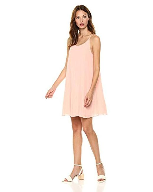 BCBGeneration - Pink Sunburst Pleated Dress - Lyst