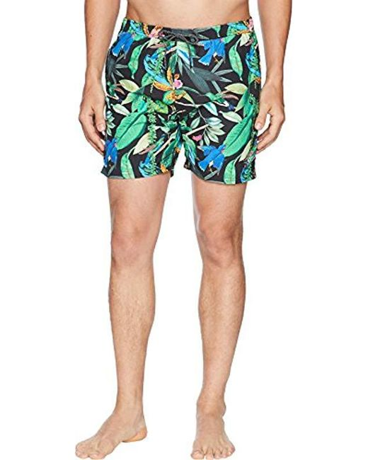 Scotch & Soda - Multicolor Elasticated Swimshort With Colourful All-over Print Swim Trunks for Men - Lyst
