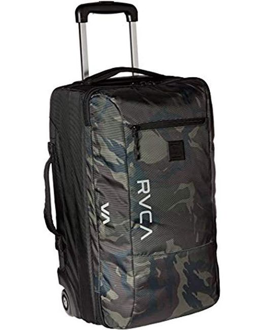 Rvca Green Eastern Small Roller Bag Travel Luggage For Men Lyst
