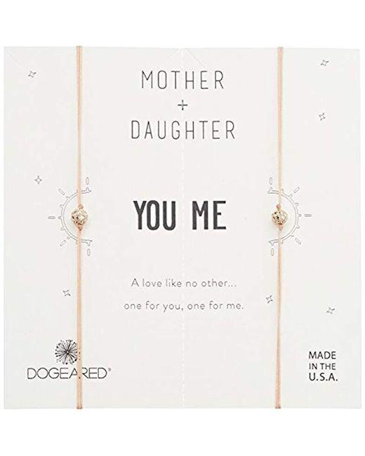 Dogeared - Metallic Mother + Daughter, Sparkle Ball On Petal Cord Bracelet, Set Of 2, 14k Gold Dipped 0.925 Sterling Silver, Adjustable - Lyst