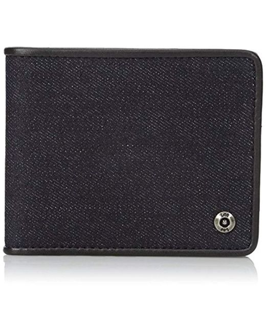 Lee Jeans - Blue Canvas And Leather Billfold Rfid Blocking Wallet for Men - Lyst