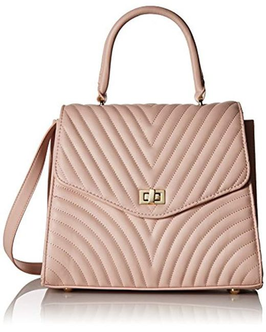 Steve Madden - Multicolor Coco Ladies Top Handle Non Leather Satchel With Chevron Quilting - Lyst