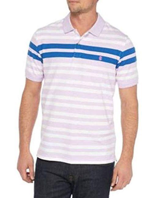 742948bf Lyst - Izod Advantage Performance Stripe Polo in Blue for Men