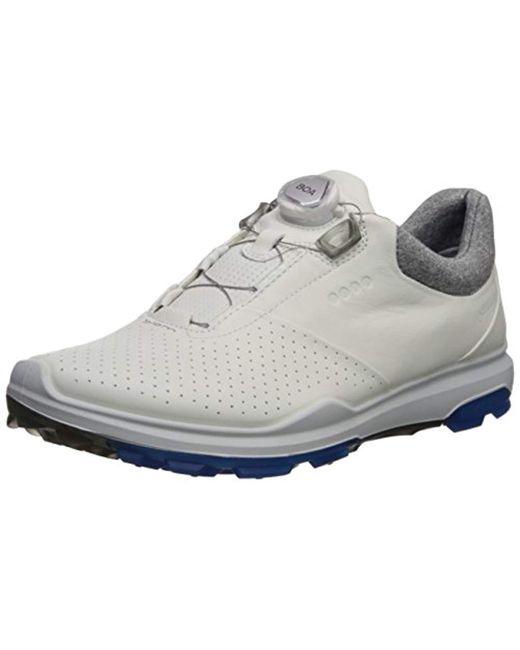 b9ede36cd20e9 Ecco - White Biom Hybrid 3 Boa Gore-tex Golf Shoe for Men - Lyst ...