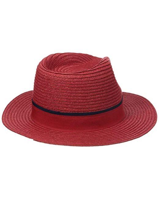 4e23f7e025c ... Original Penguin - Red Klein Wide-brim Straw Fedora Hat for Men - Lyst