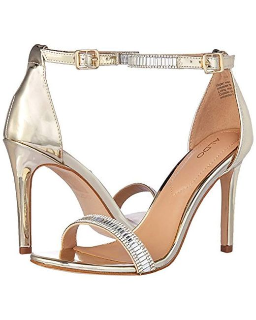 72ba653007f9 Lyst - ALDO Sevoredia Dress Sandal in Metallic - Save 71%