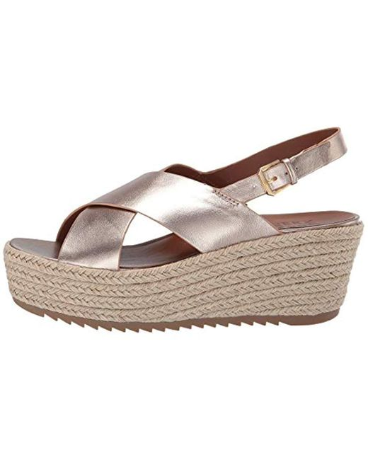 82f4e9683926 ... Naturalizer - Brown Oak Espadrille Wedge Sandal - Lyst ...