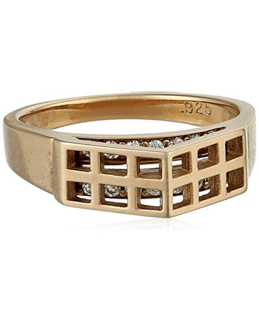Campbell - Metallic Gold-vermeil Greenhouse Ring - Lyst