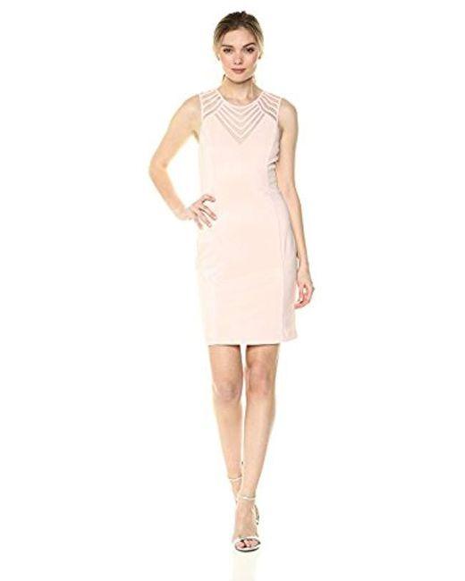 Guess Pink Blush Shiny Ottoman Dress