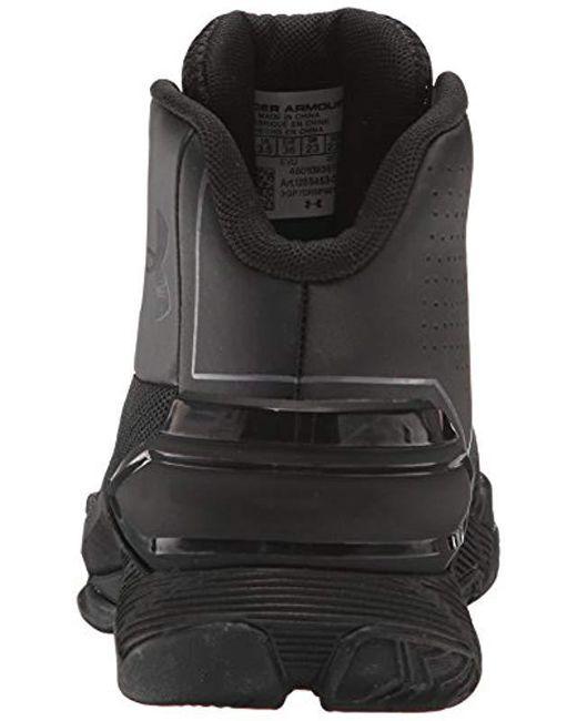 9e4ce0bd9d81 ... Under Armour - Grade School Longshot Basketball Shoe Black (002) rhino  Gray 4 ...