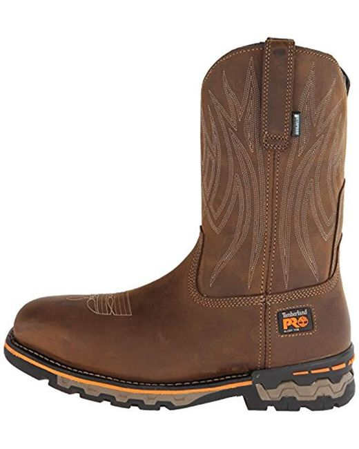 317db951627 Men's Brown Ag Boss Pull-on Alloy Square-toe Work And Hunt Boot
