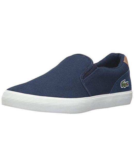 Lacoste - Blue Jouer Slip-on Cam Fashion Sneaker for Men - Lyst