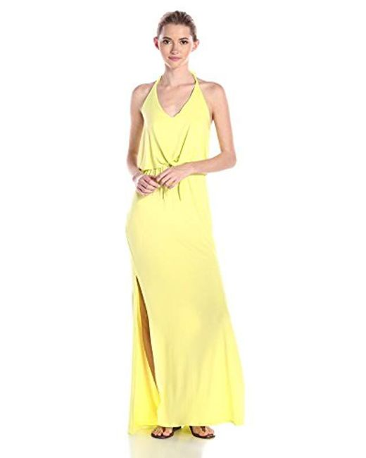 Ella Moss - Yellow Bella Jersey Maxi Dress - Lyst
