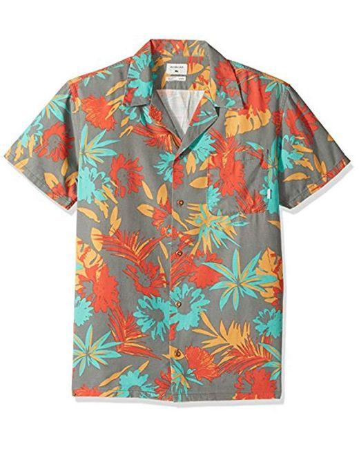 Quiksilver - Blue Desert Trip Camp Short Sleeve Shirt for Men - Lyst
