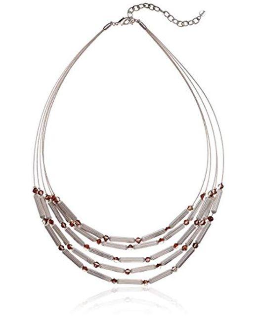 Napier - Multicolor Twotone Multirow Necklace - Lyst