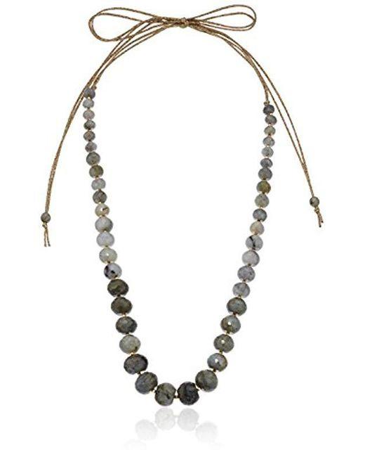 Chan Luu - Multicolor Labradorite Tie Necklace - Lyst