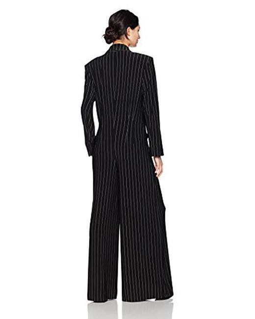 9194e97376ce Lyst - Norma Kamali Single Breasted Elephant Jumpsuit in Black ...