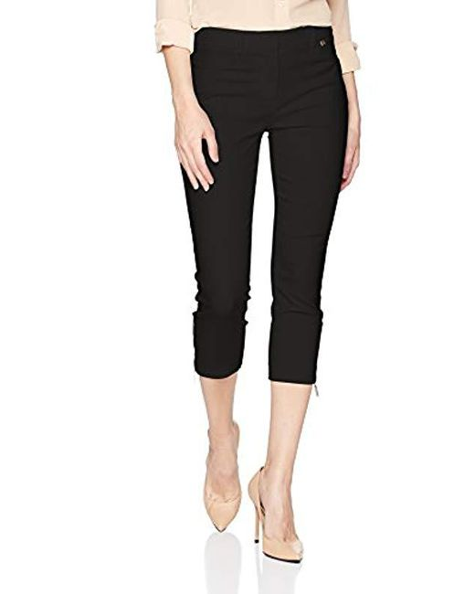Ivanka Trump - Black Ankle Length Compression Side Zipper Pant - Lyst
