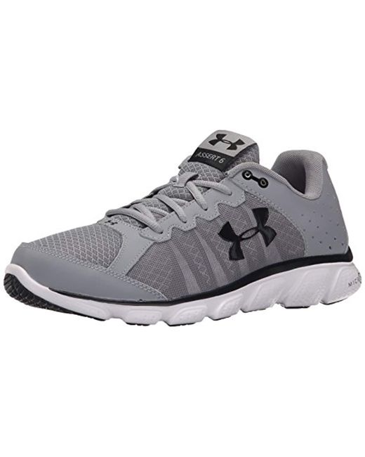 Under Armour - Gray Micro G Assert 6 Running Shoe for Men - Lyst