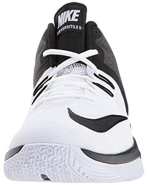 size 40 061f1 5cabe ... Nike - Air Versitile Ii Basketball Shoe, White black, 7.0 Regular Us  for ...