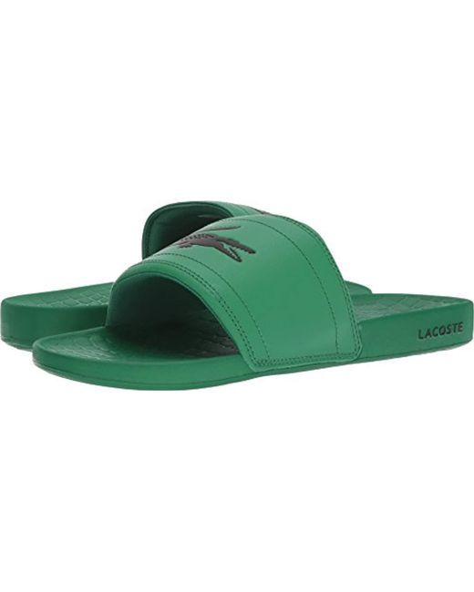 723ea13d29bac Lyst - Lacoste  s Fraisier Slides in Green for Men - Save 33%