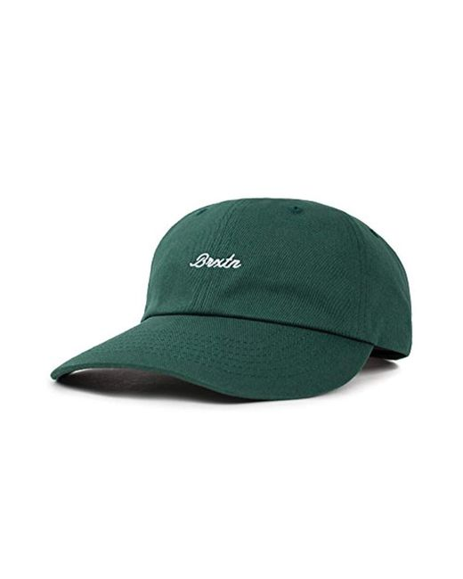 c7ce058fdadde Lyst - Brixton Westchester Low Profile Adjustable Hat in Green for ...