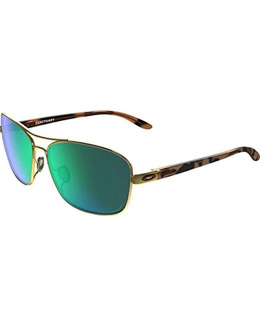 2f96b74e9e3 Lyst - Oakley S Sanctuary Sunglasses (oo4116) Metal in Green - Save ...