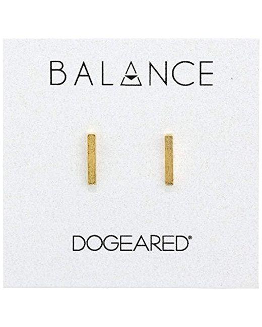 Dogeared - Metallic Balance Flat Bar Stud Earrings - Lyst