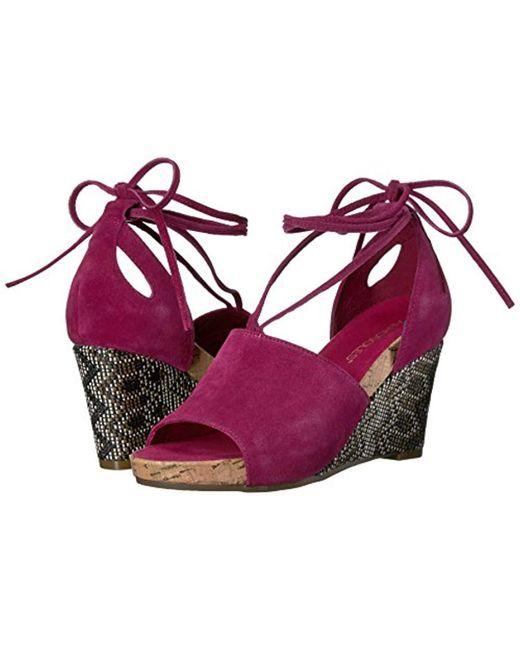 b0721e4922 ... Aerosoles - Multicolor Spring Plush Wedge Sandal - Lyst ...