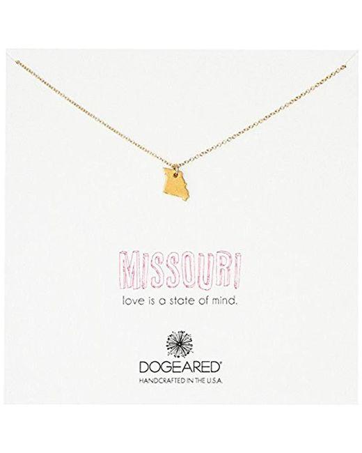 Dogeared - Metallic State Of Mind Missouri Necklace - Lyst